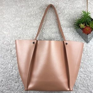 Neiman Marcus Shimmering Dusty Pink Tote